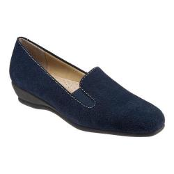 Women's Trotters Lamar Loafer Navy Cow Suede