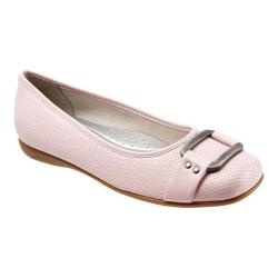 Women's Trotters Sizzle Signature Flat Pale Pink Soft Perfed Leather
