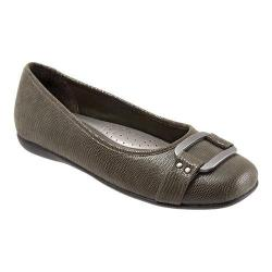 Women's Trotters Sizzle Signature Flat Loden Patent Suede Lizard Leather