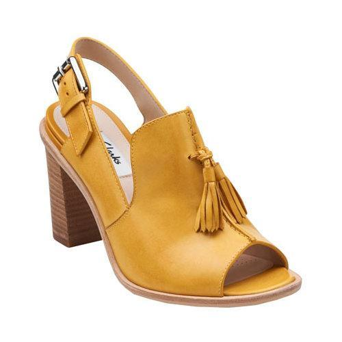 Women S Clarks Oriana Billy Honey Leather Free Shipping