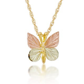 Black hills gold necklaces for less overstock black hills gold butterfly pendant aloadofball Gallery