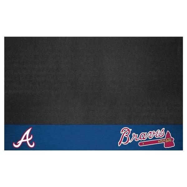Fanmats Atlanta Braves Black Vinyl Grill Mat