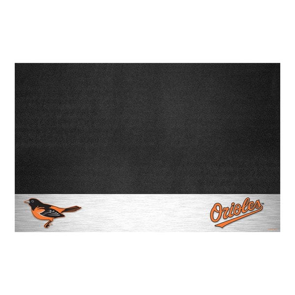 Fanmats Baltimore Orioles Black Vinyl Grill Mat