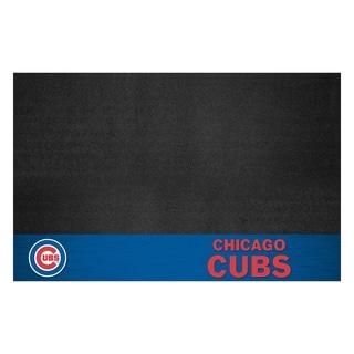 Fanmats Chicago Cubs Black Vinyl Grill Mat