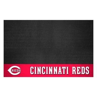 Fanmats Cincinnati Reds Black Vinyl Grill Mat