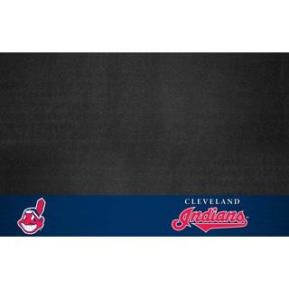 Fanmats Cleveland Indians Black Vinyl Grill Mat