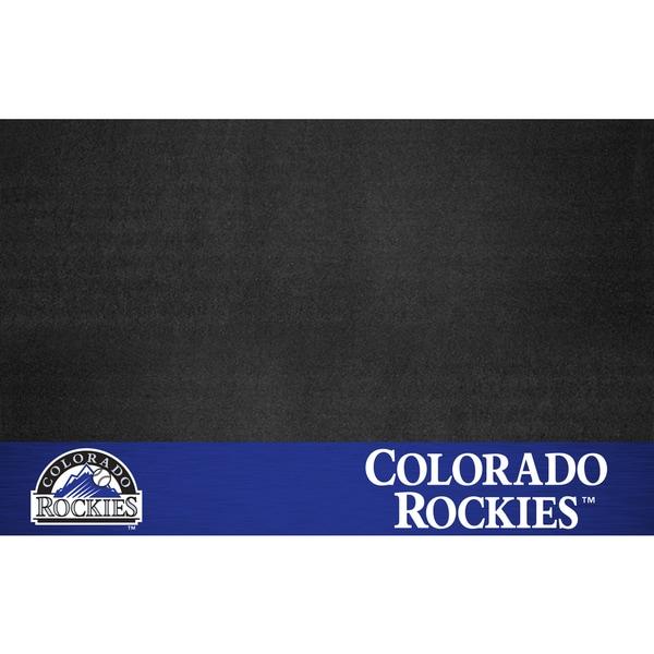 Fanmats Colorado Rockies Black Vinyl Grill Mat