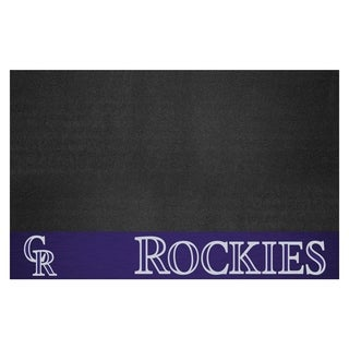 Fanmats Colorado Rockies Black Vinyl Grill Mat