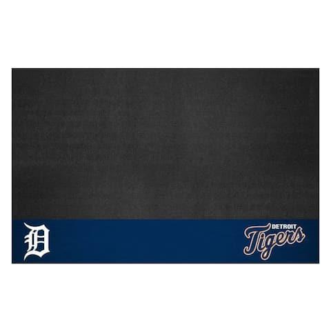"MLB - Detroit Tigers Black Vinyl Grill Mat 26""x42"""