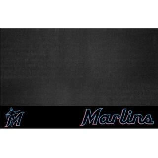 Fanmats Miami Marlins Black Vinyl Grill Mat