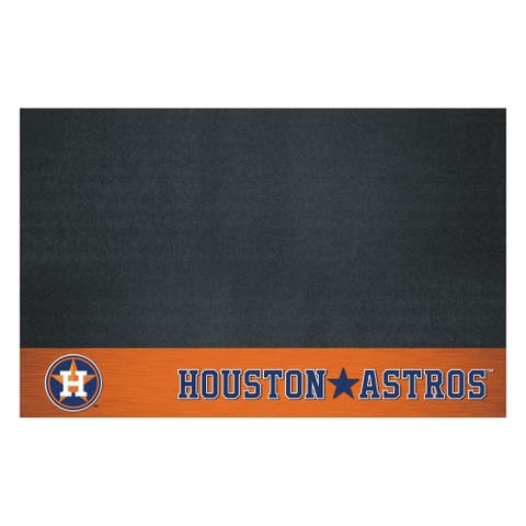 "MLB - Houston Astros Black Vinyl Grill Mat 26""x42"""