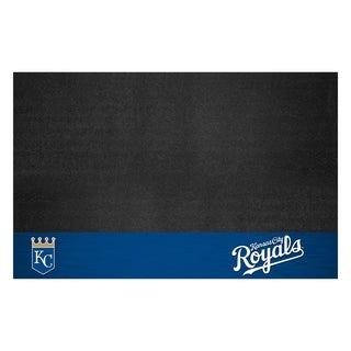 Fanmats Kansas City Royals Black Vinyl Grill Mat