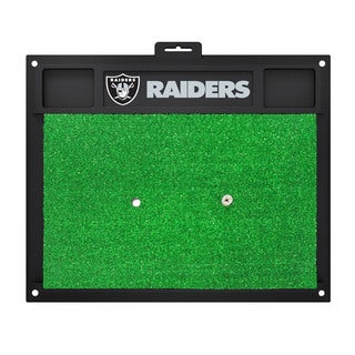Fanmats Oakland Raiders Green Rubber Golf Hitting Mat