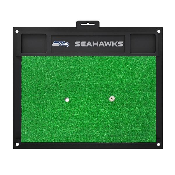 Fanmats Seattle Seahawks Green Rubber Golf Hitting Mat