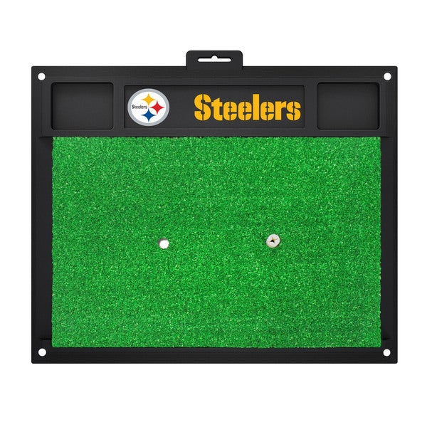 Fanmats Pittsburgh Steelers Green Rubber Golf Hitting Mat