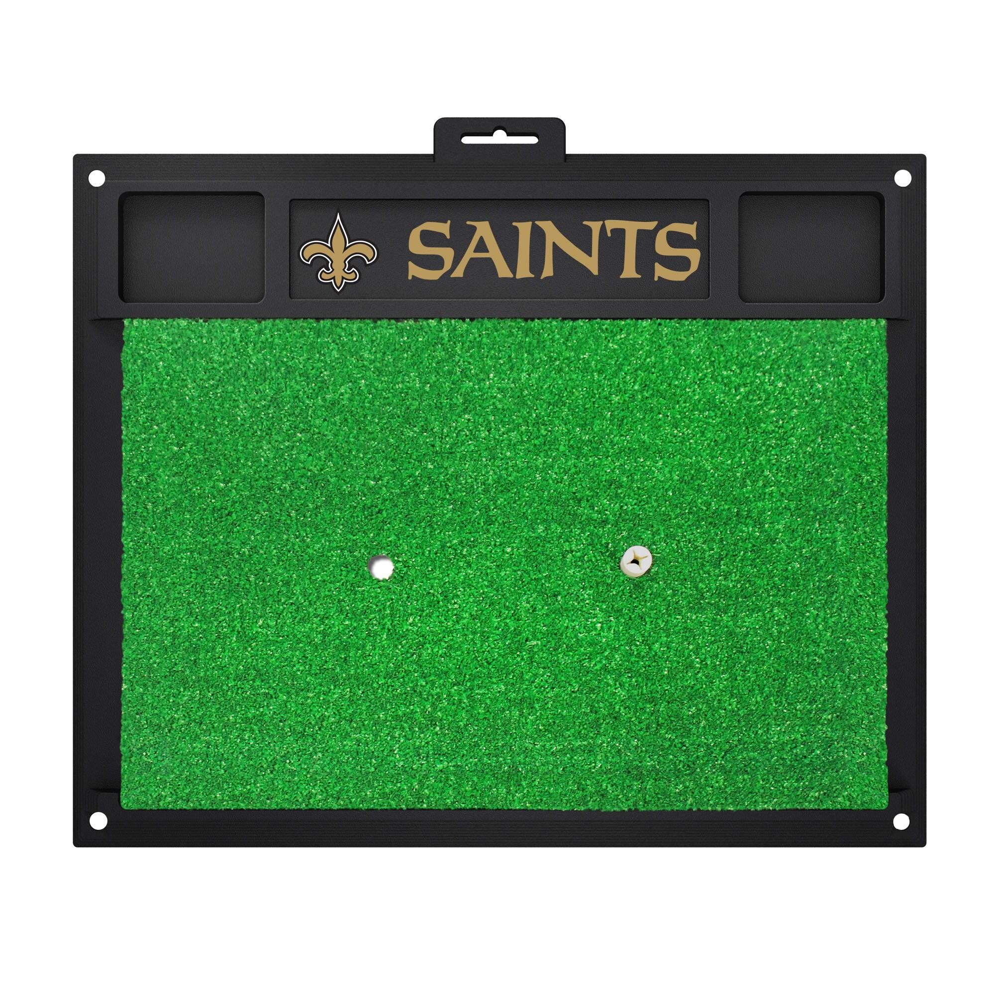 Fan Mats New Orleans Saints Green Rubber Golf Hitting Mat...