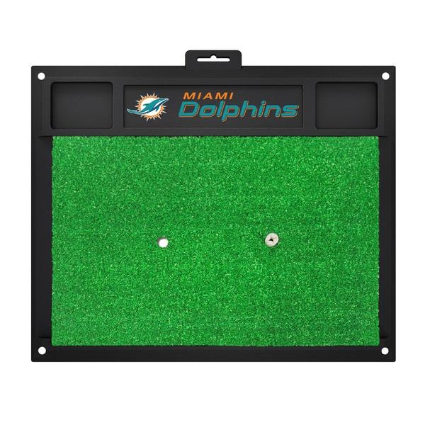 Fanmats Miami Dolphins Green Rubber Golf Hitting Mat