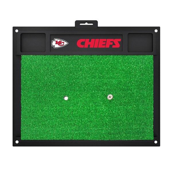 Fanmats Kansas City Chiefs Green Rubber Golf Hitting Mat