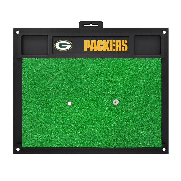 Fanmats Green Bay Packers Green Rubber Golf Hitting Mat
