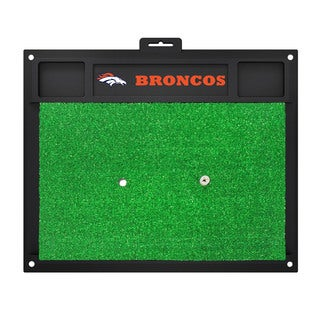 Fanmats Denver Broncos Green Rubber Golf Hitting Mat
