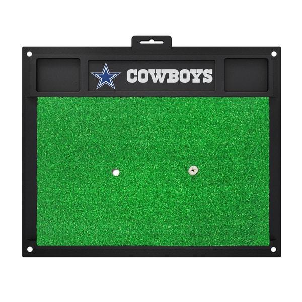 Fanmats Dallas Cowboys Green Rubber Golf Hitting Mat
