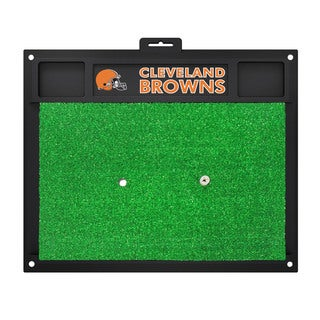 Fanmats Cleveland Browns Green Rubber Golf Hitting Mat