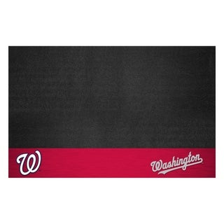 Fanmats Washington Nationals Black Vinyl Grill Mat
