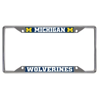 Fanmats Michigan Wolverines Chrome Metal License Plate Frame