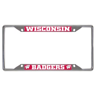 Fanmats Wisconsin Badgers Chrome Metal License Plate Frame|https://ak1.ostkcdn.com/images/products/10700183/P17761075.jpg?_ostk_perf_=percv&impolicy=medium