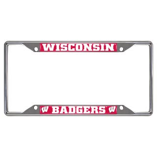Fanmats Wisconsin Badgers Chrome Metal License Plate Frame|https://ak1.ostkcdn.com/images/products/10700183/P17761075.jpg?impolicy=medium