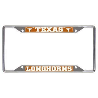 Fanmats Texas Longhorns Chrome Metal License Plate Frame