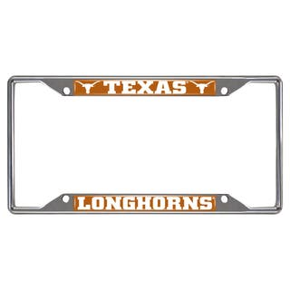 Fanmats Texas Longhorns Chrome Metal License Plate Frame|https://ak1.ostkcdn.com/images/products/10700184/P17761076.jpg?impolicy=medium