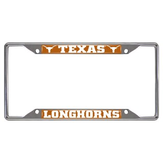 Fanmats Texas Longhorns Chrome Metal License Plate Frame
