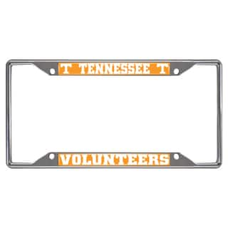 Fanmats Tennessee Volunteers Chrome Metal License Plate Frame|https://ak1.ostkcdn.com/images/products/10700185/P17761077.jpg?impolicy=medium