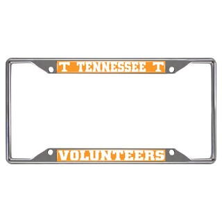 Fanmats Tennessee Volunteers Chrome Metal License Plate Frame