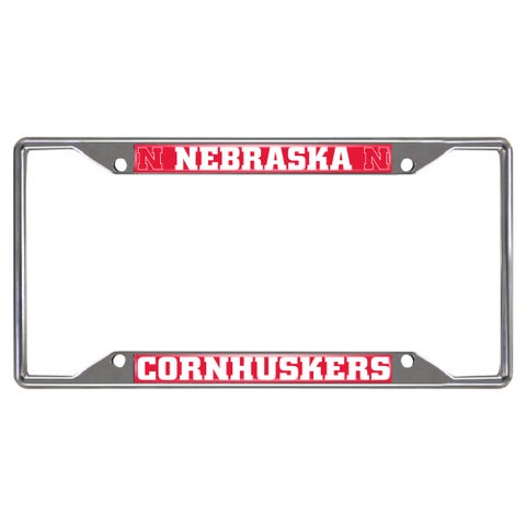 Fanmats Nebraska Cornhuskers Chrome Metal License Plate Frame