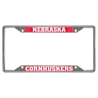 Fanmats Nebraska Cornhuskers Chrome Metal License Plate Frame https://ak1.ostkcdn.com/images/products/10700189/P17761081.jpg?impolicy=medium