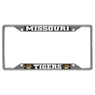 Fanmats Missouri Tigers Chrome Metal License Plate Frame