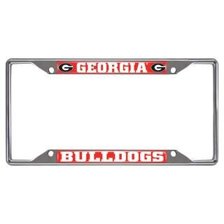 Fanmats Georgia Bulldogs Chrome Metal License Plate Frame
