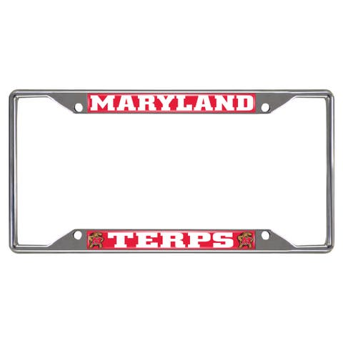 Fanmats Maryland Terrapins Chrome Metal License Plate Frame