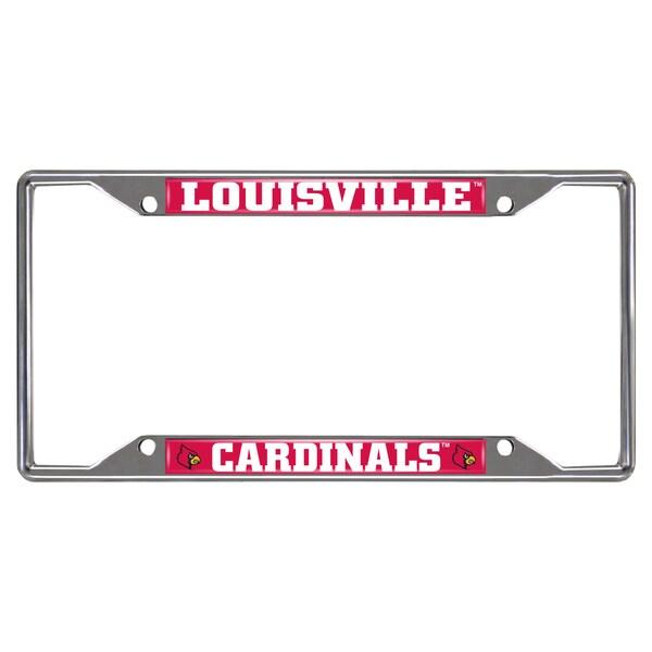 Fanmats Louisville Cardinals Chrome Metal License Plate Frame