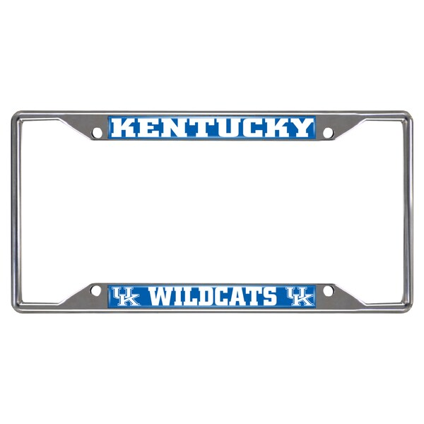 Fanmats Kentucky Wildcats Chrome Metal License Plate Frame