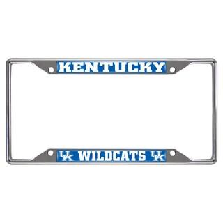 Fanmats Kentucky Wildcats Chrome Metal License Plate Frame