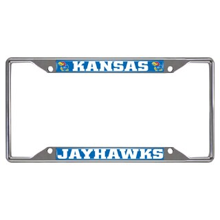 Fanmats Kansas Jayhawks Chrome Metal License Plate Frame
