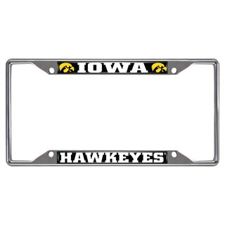 Fanmats Iowa Hawkeyes Chrome Metal License Plate Frame