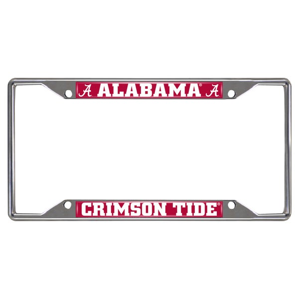 Fanmats Alabama Crimson Tide Chrome Metal License Plate Frame