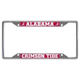 Fanmats Alabama Crimson Tide Chrome Metal License Plate Frame