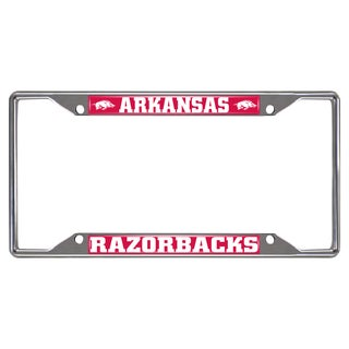 Fanmats Arkansas Razorbacks Chrome Metal License Plate Frame
