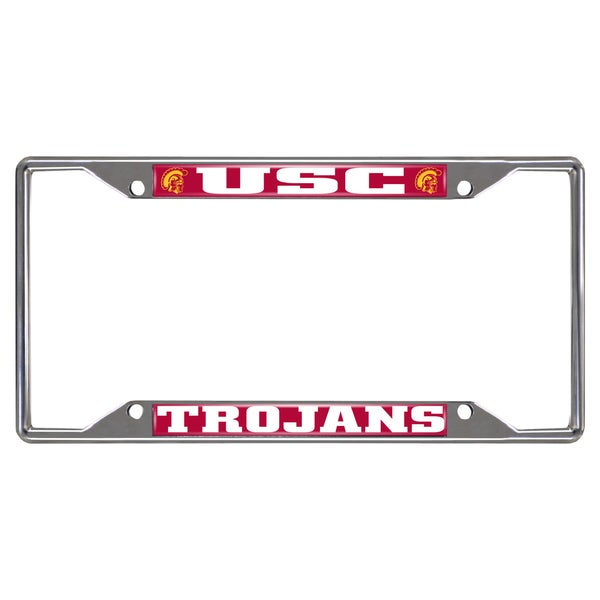 Fanmats USC Trojans Chrome Metal License Plate Frame