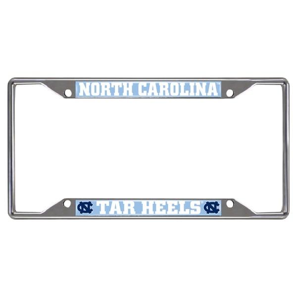 Fanmats North Carolina Tar Heels Chrome Metal License Plate Frame